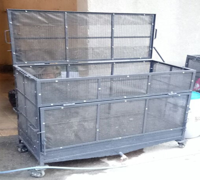 Cropped photo of compost cage