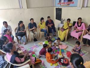 Meeting with Anganwadi workers